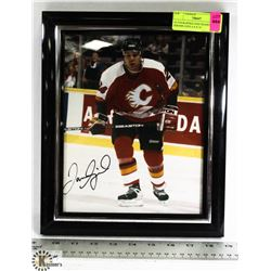 AUTOGRAPHED AND FRAMED JEROME IGINLA 8 X 10