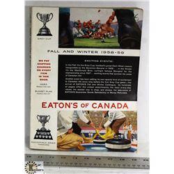 VINTAGE 1958-59 FALL & WINTER EATON'S CATALOGUE