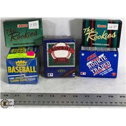 LOT OF 5 VARIOUS 1988-90 BASEBALL CARD SETS INCL