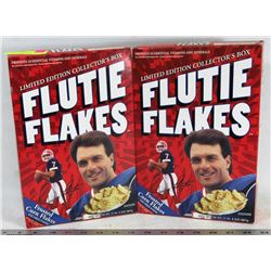 2 BOXES OF SEALED LIMITED EDITION FLUTIE FLAKES