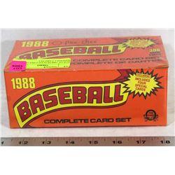 BOX OF 1988 SEALED O-PEE-CHEE BASEBALL CARD SET