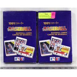 2 SEALED BOXES OF 1991 O-PEE-CHEE PREMIER BASEBALL