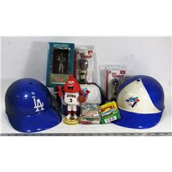 LARGE FLAT OF BASEBALL COLLECTIBLES INCLUDES 2