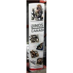 """75"""" DINOS OF CANADA STAMP DISPLAY STAND - CANADA"""