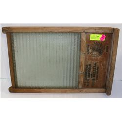 ANTIQUE WESTERN BROOM WASHBOARD