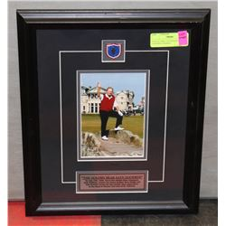 COLLECTIBLE GOLDEN BEAR SAYS GOODBYE FRAMED