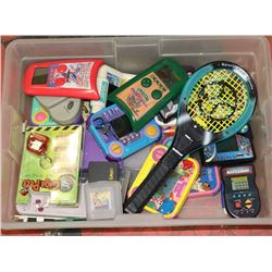 TUB OF ASSORTED HANDHELD ELECTRONICS GAMES