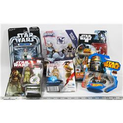 FLAT OF STAR WARS ASSORTED COLLECTIBLE FIGURES.