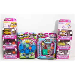 FLAT OF ASSORTED SHOPKINS COLLECTIBLES.