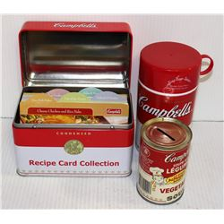 CAMPBELL'S SOUP COLLECTIBLES RECIPE BOX