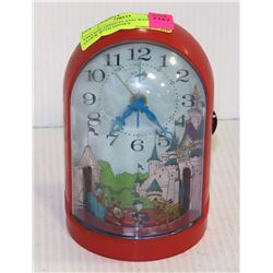 VINTAGE DISNEYLAND WIND UP CLOCK WITH DISNEY