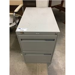 2 DRAWER GREY FILE CABINET