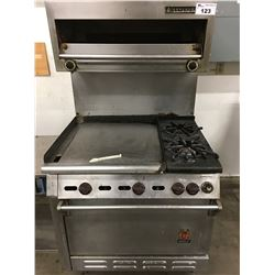 "36"" WOLF STOVE WITH 2 BURNERS AND 24"" GRILL"