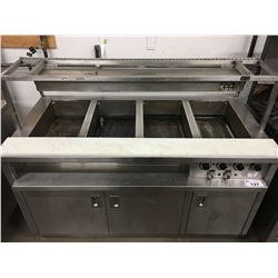 "ALEX GAIR 62"" HEATED SERVING STATION"