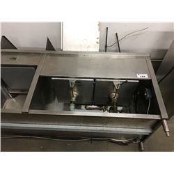 8' STAINLESS STEEL COUNTER WITH SINKS