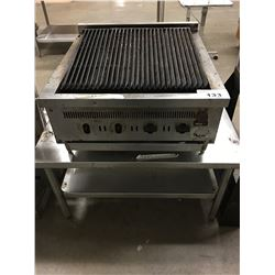 "25"" GRILL WITH STAINLESS STEEL TABLE"