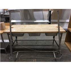 6' MAPLE BUTCHER BLOCK TABLE WITH POT HANGER