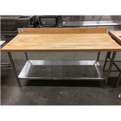 6' MAPLE BUTCHER BLOCK TABLE