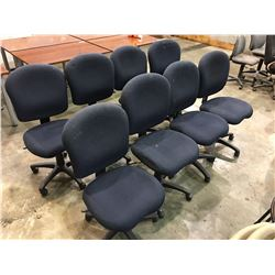 8 BLUE OFFICE CHAIRS