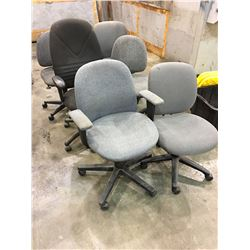 LOT OF 6 ASSORTED DESK CHAIRS
