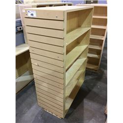 DOUBLE SIDED BOOK SHELF