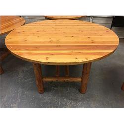 "60"" ROUND FIR TABLE"