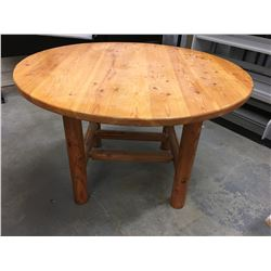 "48"" ROUND FIR TABLE"