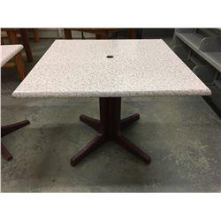 "36"" SQUARE PATIO TABLE"