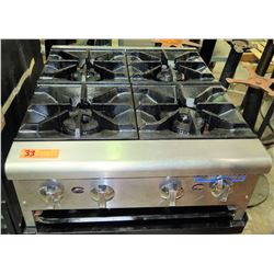 Imperial 4-Burner Countertop Natural Gas Stove, Fully Reconditioned
