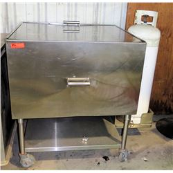 Imperial Mobile Covered Grill w/ Propane Tank & Undershelf