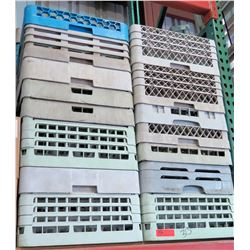 Multiple Misc Plastic Commercial Dishwasher Racks
