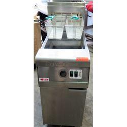 """Frymaster Commercial Deep Fryer w/ 2 Baskets 16""""W x 31.5 D x 47""""H"""