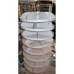 Round Metal Multi-Compartment Rotating Storage Rack
