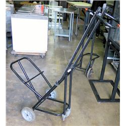 Mity-Lite Cart Black Metal Upright Multi-Purpose Hand Truck Dolly w/ Stand