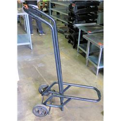 Black Metal Upright Mixing Bowl Hand Truck Dolly w/ Stand