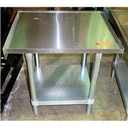 "Stainless Steel Edged Work Table w/ Undershelf 2'W x 2'D x 25""H"