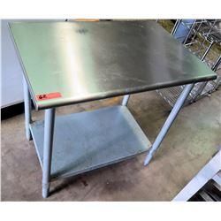 """Stainless Steel Utility Table w/ Undershelf 3'W x 2""""D x 35""""H"""