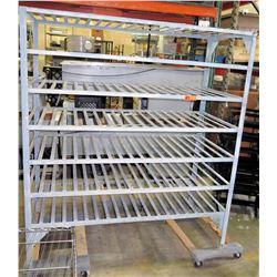 """6-Tier Baker's Cooling Rack Metal 5'W x 28""""D x 67.5""""H"""