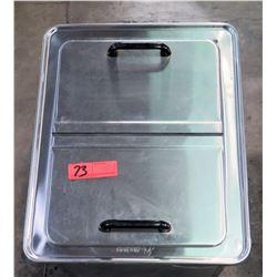 Atlas Metal Two Top Door Stainless Steel Cabinet w/ Drain