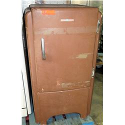 General Electric Brown Vintage Footed Single Door Refrigerator