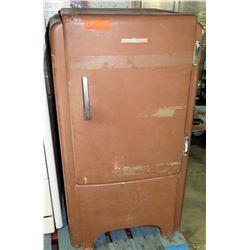 General Electric Brown Vintage Footed Single-Door Refrigerator