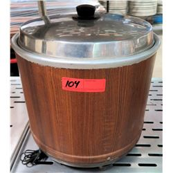 NV-25 Wood Grain Pattern Electric Rice Cooker AC100V-47W