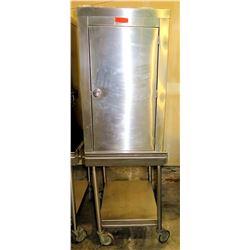 Stainless Steel Holding Cabinet on Wheeled Cart w/ Undershelf