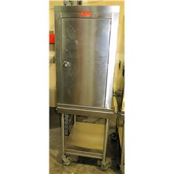 "Stainless Steel Holding Cabinet on Rolling Cart 23.5""W x 29""D x 40""H"