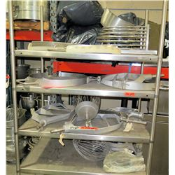 Contents of Shelf - Stainless Steel Mixer Accessories & Parts