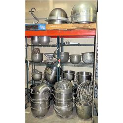 Contents of Shelf - Stainless Steel Misc Sizes Mixing Bowls & Accessories
