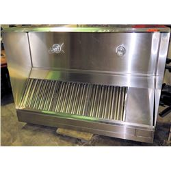 "Lambertson Stainless Steel Kitchen Exhaust Hood 6' x 48"" x 21"""