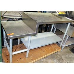 Staggered-Height Stainless Steel Utility Table w/ Undershelf