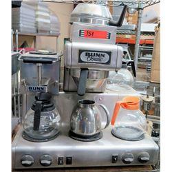 Bunn O'Matic PL35 Double Brew  Coffee Maker w/ 3 Extra Warmers & Coffee Pots