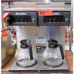 Bunn O'Matic CWTF 4/2 Twin 120V Coffee Brewer w/ 4 Top Warmers